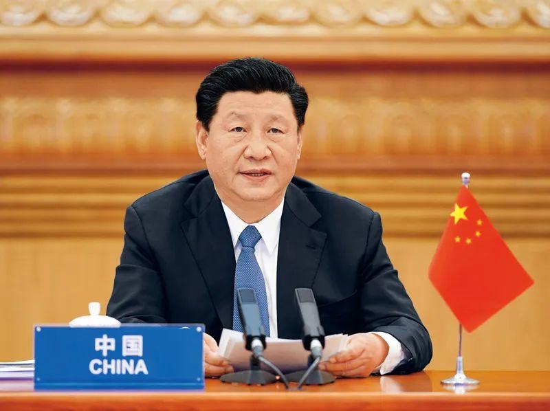 2020年3月26日,国家主席习近平在北京出席二十国集团领导人应对新冠肺炎特别峰会并发表题为《携手抗疫 共克时艰》的重要讲话。新华社记者 李学仁/摄